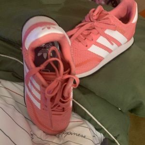 Pink and White Adidas for girls